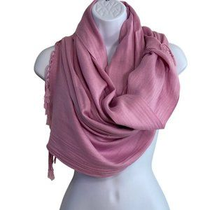 Pink Dusty Rose 100% Pashmina Scarf NEW W/O TAGS